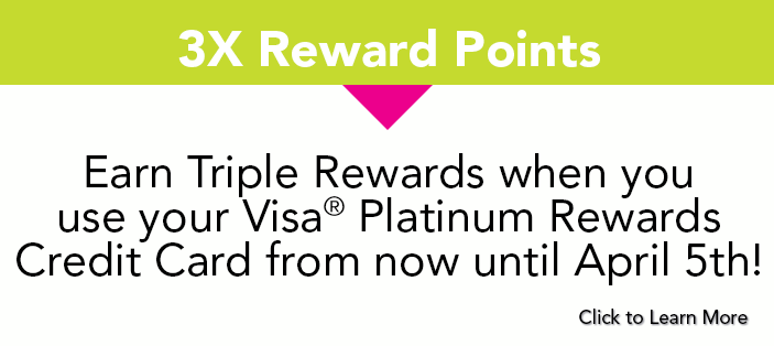 Earn Triple Rewards With Your Visa® Platinum Rewards Credit Card