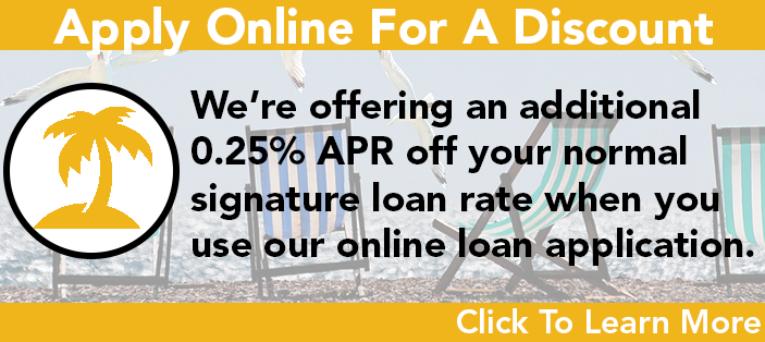 Apply online for signature loan discount
